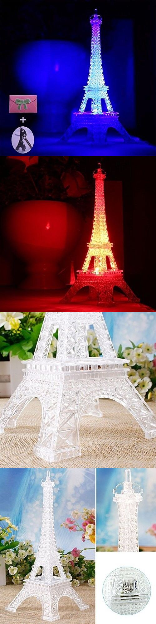 Night Lights 20702: Eiffel Tower Led Desk Lamp Home Bedroom Decor Kitchen Color Changing Hallway -> BUY IT NOW ONLY: $31.99 on eBay!