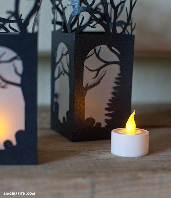 Celebraciones Caseras: mini linterna de papel para halloween