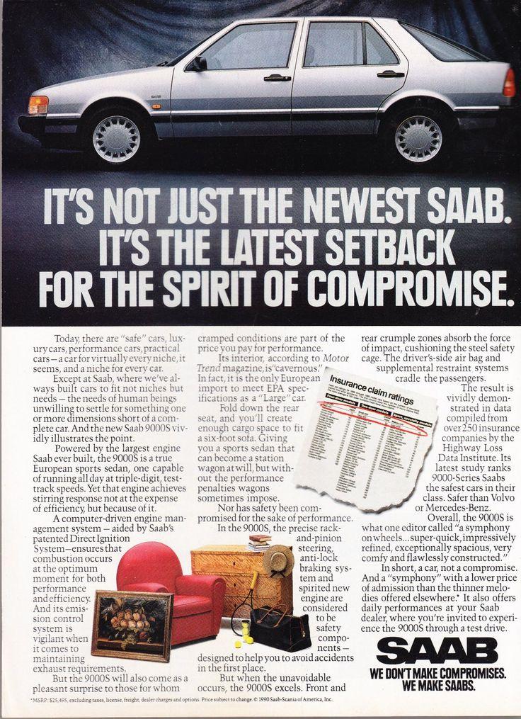 Saab+9000+Advertisement+vintage+magazine+ad