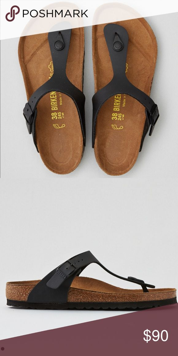 Brand New Birkenstock Gizeh Sandal Black in color. Brand new in box. Price is pretty firm but I'll consider all REASONABLE offers. No trades. Lowball offers will be declined. Birkenstock Shoes Sandals