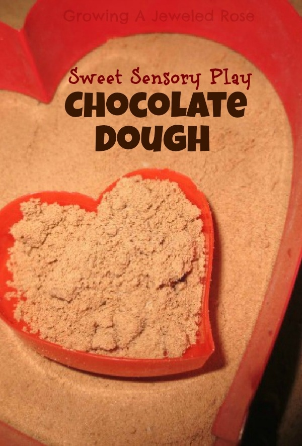Chocolate Dough- sweet sensory play for the little valentine's in your life!