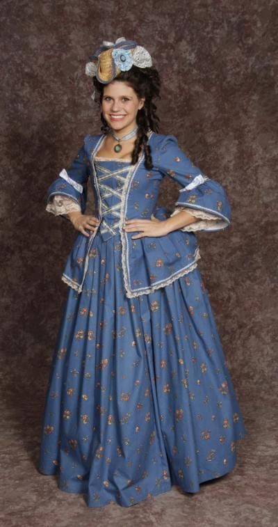 Blue dress costume rental stores