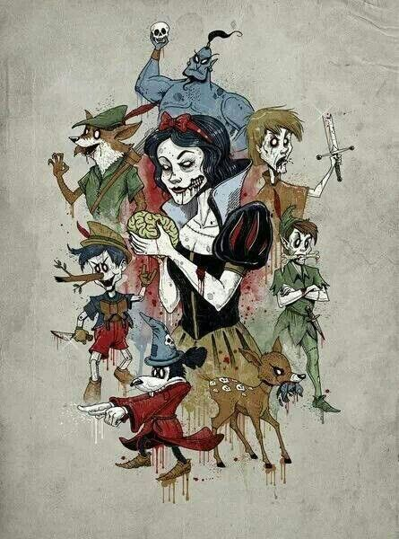 ***Looking for the artist so they get credit.. anyone know?*** Zombie Disney