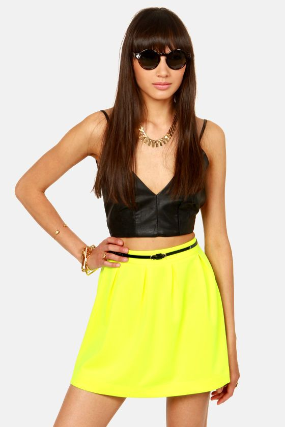 Cute Neon Yellow Skirt