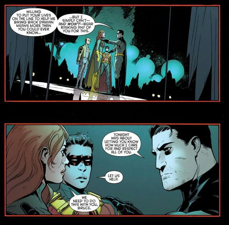 Batman showing he cares for once