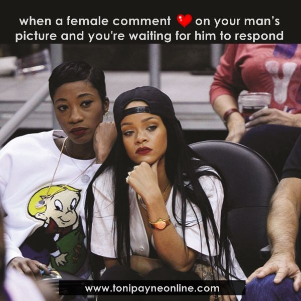 Funny Love Meme For Him : Funny relationship love jealousy meme when a female