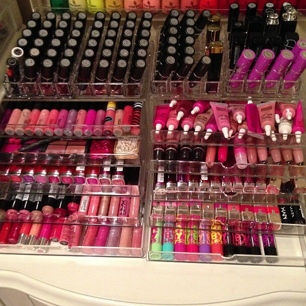 Y'all think I'm crazy for having so much. This is JUST her lip colors, lol. - Jen D