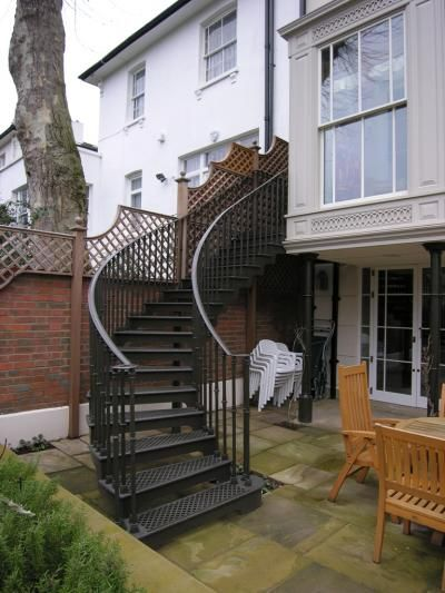 Best 25 external staircase ideas on pinterest concrete - Exterior metal spiral staircase cost ...