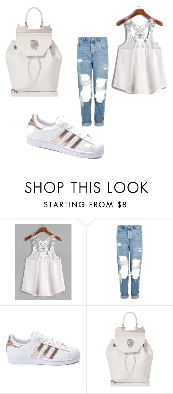 """Без названия #21"" by natalia-rotgon ❤ liked on Polyvore featuring Topshop, adidas and Philipp Plein"