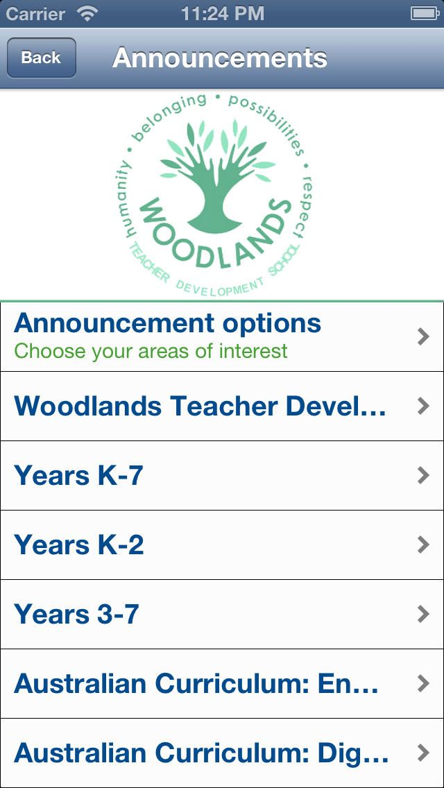 Woodlands Teacher Development School app for Australian Curriculum: English!