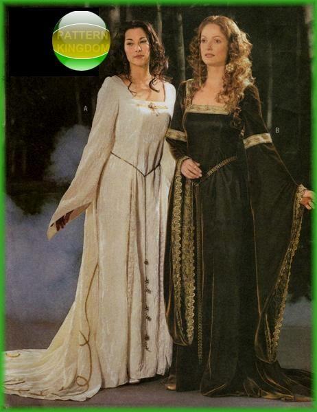 Butterick 3552 Medieval Fantasy Princess Pattern LOTR Pattern Kingdom Costume Patterns