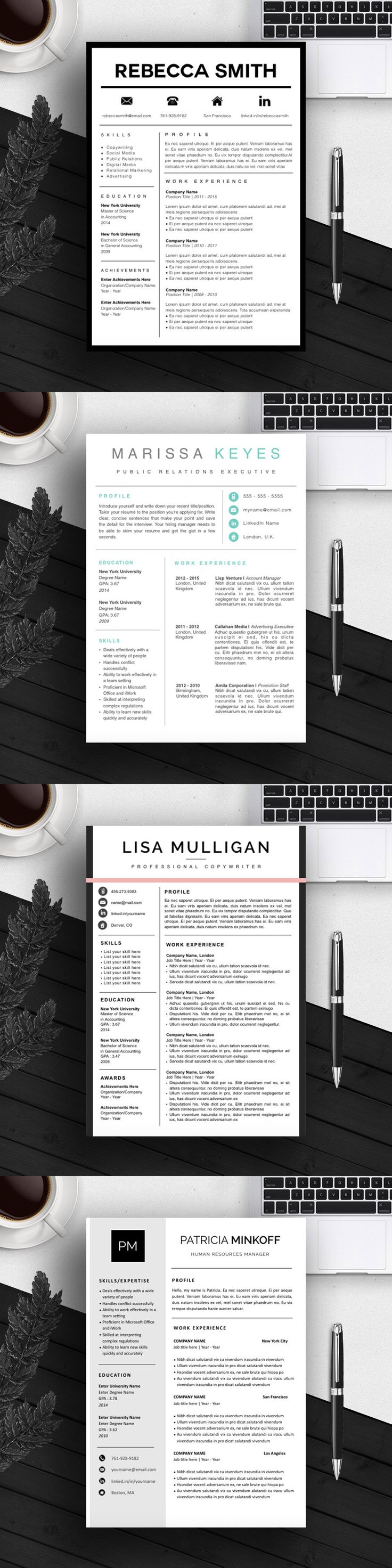 30 Best Resume Templates Images On Pinterest Resume Templates
