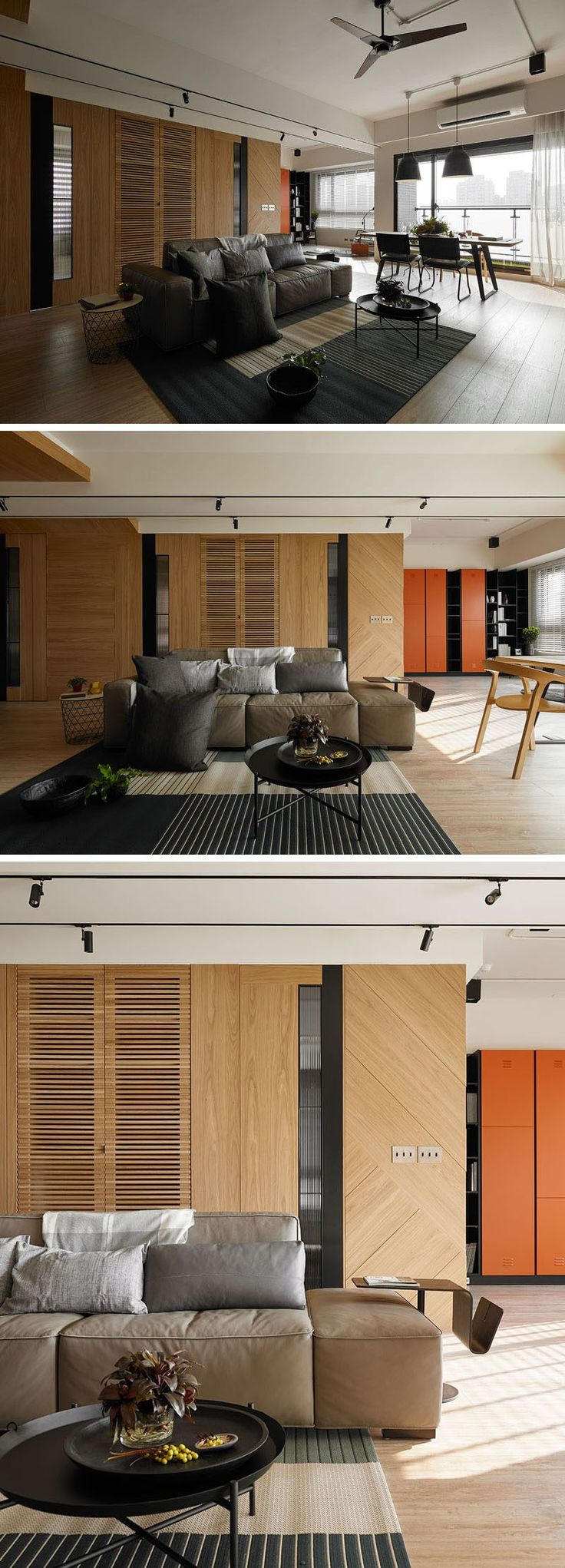 In Dieser Wohnung Gibt Es Ein Offener Grundriss Und Hinter Den Wohnbereich  In Der Hölzernen Wand. WohnbereichFamilienKleiderschrankBadezimmerWand