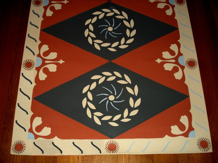 52 Best Images About Painted Canvas Floor Cloths On
