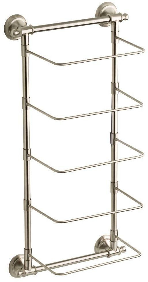 Delta 5 Bar Wall Mounted Towel Rack In Spotshield Brushed Nickel