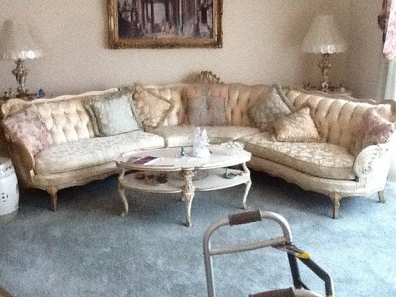 Mid Century French Provincial Sectional Sofa By Vintagebygg 500 00 For The Home Pinterest And