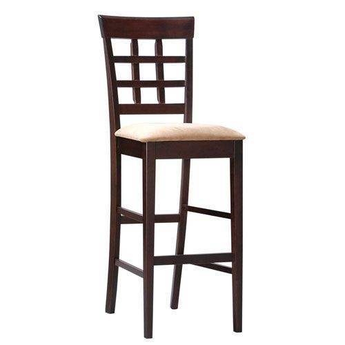 30 Inch Wheat Back Bar Stool With Fabric Seat Coaster Furniture Bar Height (28 To 36 Inch)