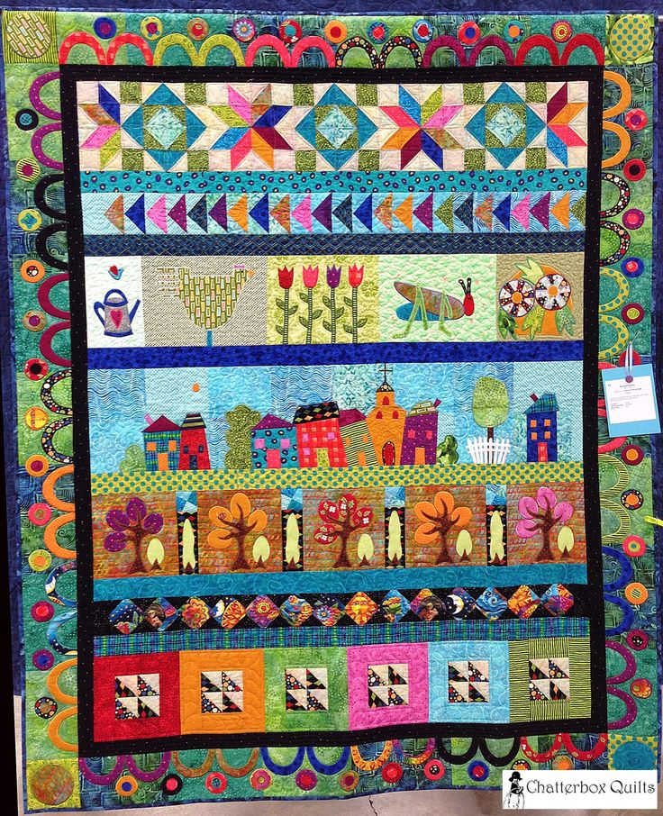 Round Robin By Cheryl Yarmchuk Rimbey Love The Colors And Different Elements In This Quilting