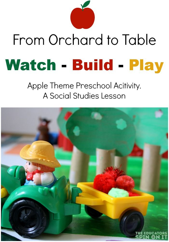 A hands-on playful preschool activity. Social Studies lesson about apples.