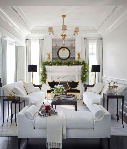 06 a gorgeous living room with a luxurious feel two white sofas rh pinterest com