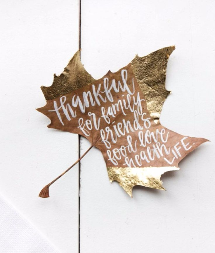 Gold Leaf Name Tag DIY | Lifestyle Collective Thanksgiving