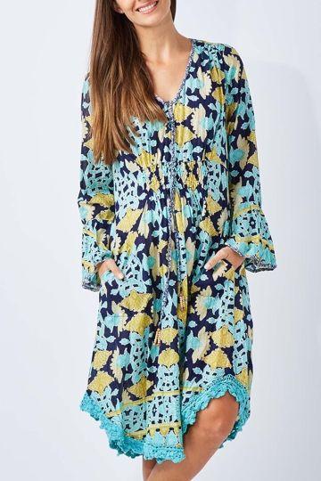 Ruby Yaya Batik Floral Dress - Womens Knee Length Dresses - Birdsnest Online Store