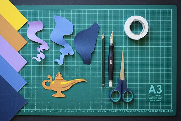 Aladdin Paper Art On Behance Paper Art Paper Cutout Art Paper Crafts