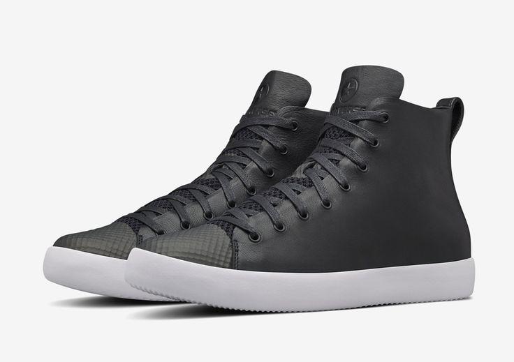 Converse All Star Modern High Top HTM — kotníkové boty — dámské, pánské — černé — kožené tenisky — Conversky #converse #allstar #nikelab #black #sneakers #shoes