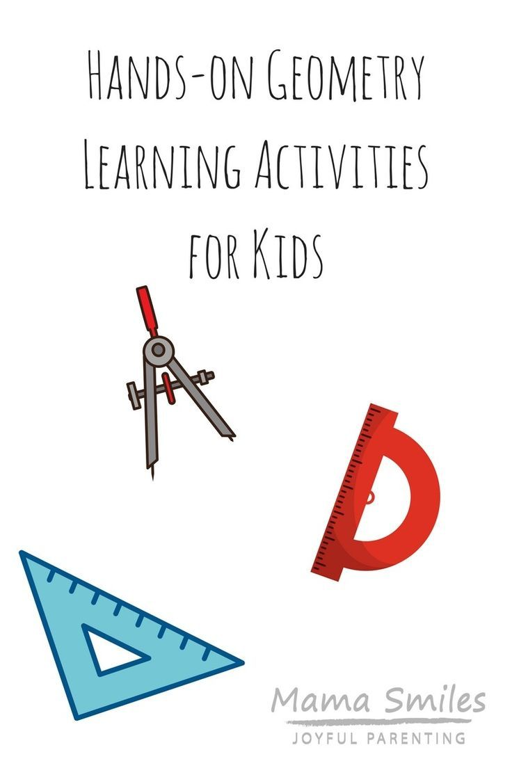 Hands-on geometry learning activities for kids. #homeschooling #keeplearning #mathisfun #mathhelp #mathlessons