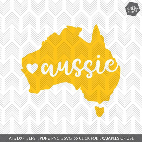 I Love Australia With Heart Cutting Silhouette Download Australia Map SVGPNGJPG Happy Australia Day Patriotic Sublimation Design Eps Dxf