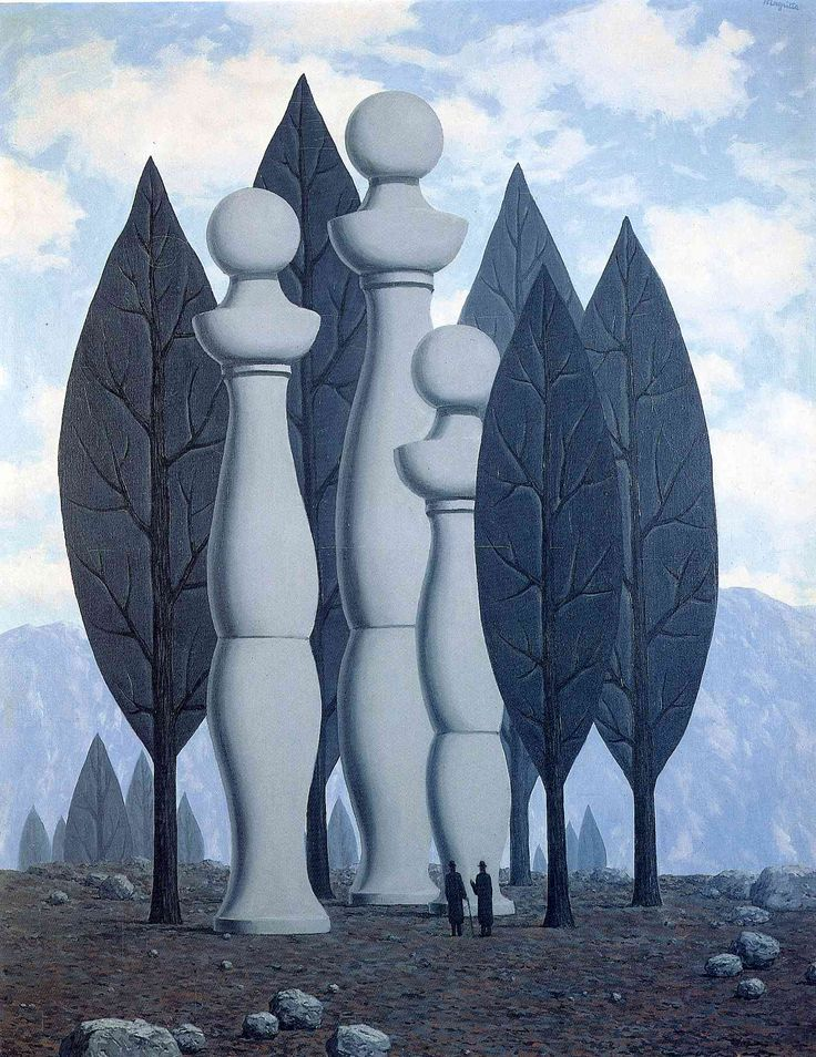 rene magritte / the art of conversation 1950