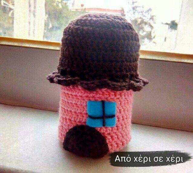 #crochet #house #crochetmania #home #sweet #home #homedecor #keychain #πλεκτο #σπιτακι #μπρελοκ