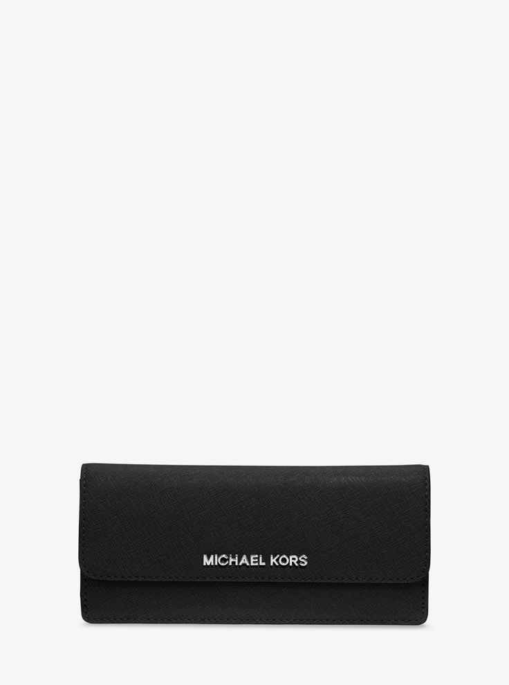 MICHAEL KORS Jet Set Travel Saffiano Leather Wallet. #michaelkors #