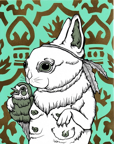 Art by Casey Porn. I just love her bunnies, they make me giggle.