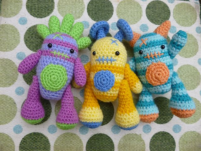 Ravelry: Mini Monsters Amigurumi Crochet Pattern pattern by Janine Holmes