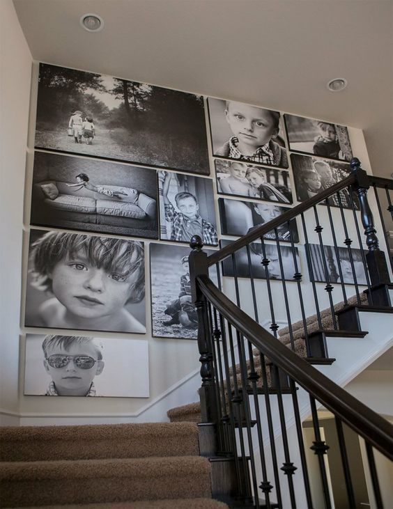 Create a photo wall or how to decorate with family pictures