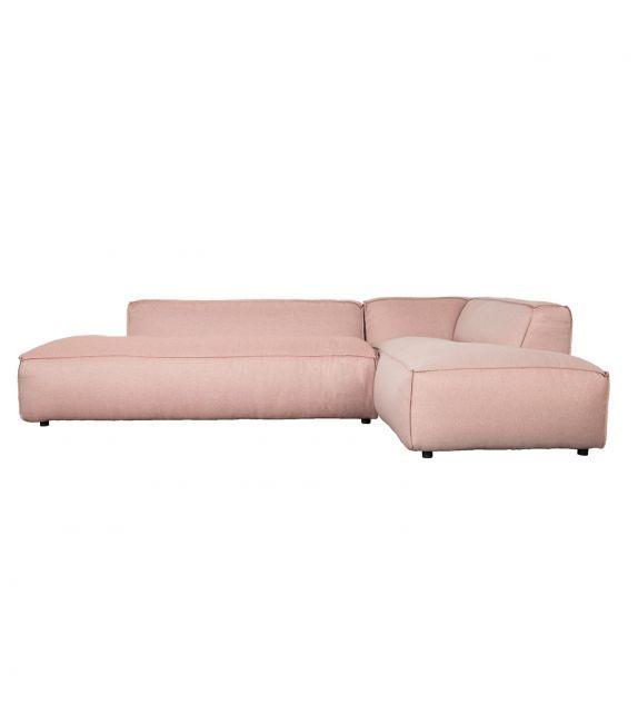 Canapé d'angle très confortable rose saumon avec des lignes épurées et son tissu très doux de la marque Zuiver sur MonDesign.com #sofa #canapé #ideas #fashion #livingroom #angle #pink #rose #saumon #salmon #salon #confort #fatfreddy #zuiver #design #interiordesign #love