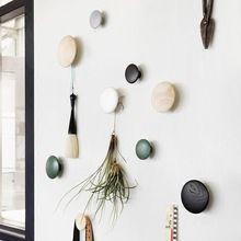 Стены гриб крючки home decor ручки стены вешалка с ногтей натуральный дуб дерево кнопка поручень настенный стеллаж для хранения(China (Mainland))