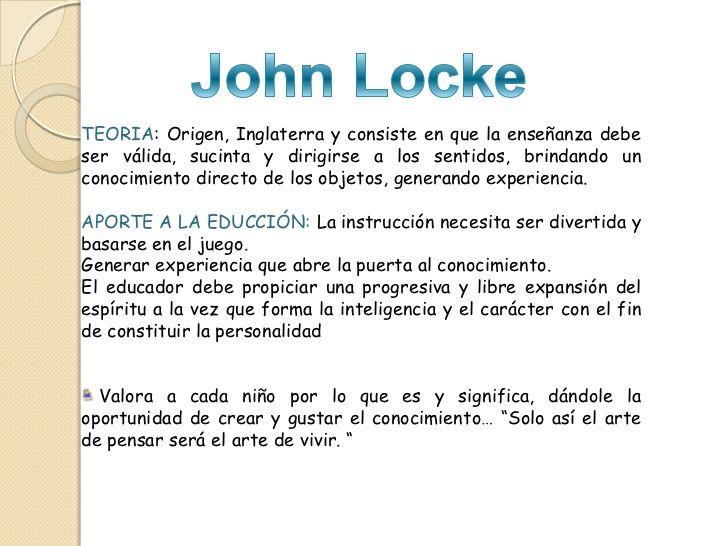 Enfoques Y Corrientes Pedagógicas Pedagogica John Locke Filosofía