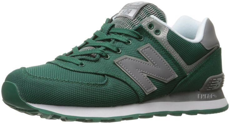 New Balance Men's ML574 Jetsetter Pack Fashion Sneaker, Team Green/Grey, 11 D US