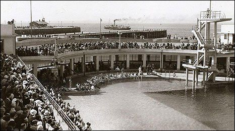 The Opening Of Morecambe Swimming Baths In 1935 Swimming Pinterest Morecambe