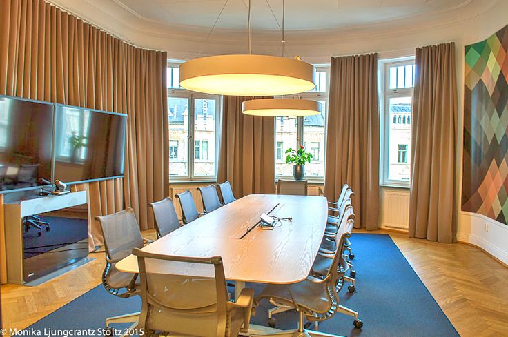 Linkedin office Stockholm.   Co-operation with our agent in sweden - www.okko.se.   Product used: Foscusan Alfa acoustic curtain etc.