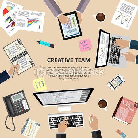 Creative team concept — Stock Illustration #95590856