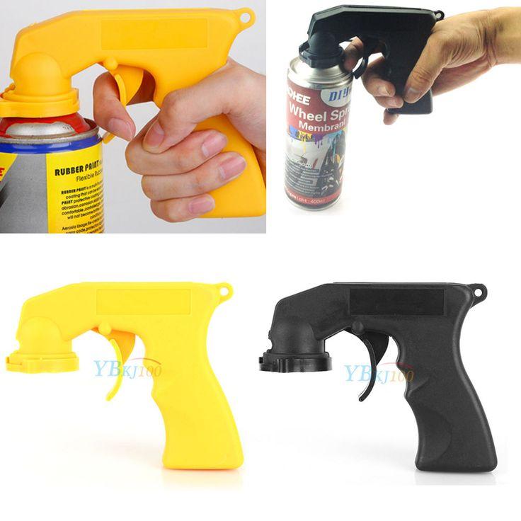 1x Aerosol Spray Painting Can Gun Handle With Full Grip Trigger Locking Collar