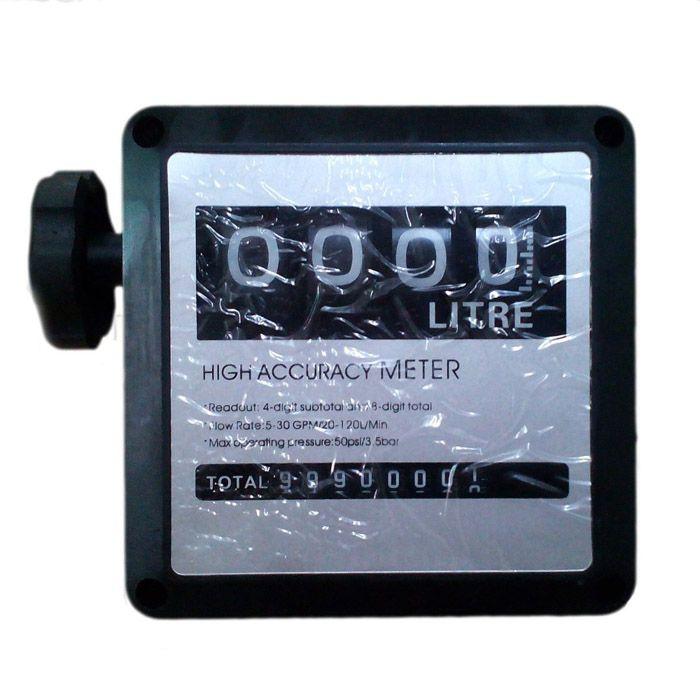 FM-120 4-bit G1 Digital Diesel Fuel Oil Flow Meter Fuel Dispenser Component Gas Gasoline Flow Meter Diesel Flow Meter