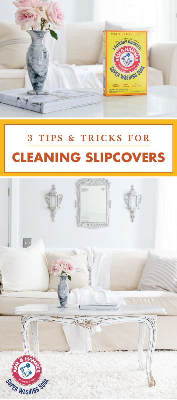 If keeping your furniture fresh and clean is part of your cleaning must-haves, then take a peek at these 3 Tips and Tricks for Cleaning Slipcovers! Using  ARM & HAMMER™ Super Washing Soda, you can tackle spots, stains, and smelly fabrics all with the help of one natural product—what could be better than that?! Click to discover even more household hacks.