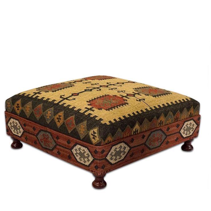 Best 25 Kilim Ottoman Ideas On Pinterest Upholstered Ottoman Upholstered Ottoman Coffee