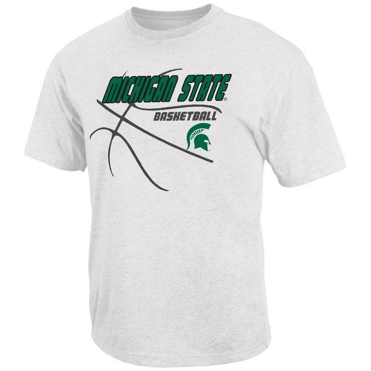 Michigan State University Basketball T-Shirt Fast Break Short Sleeve