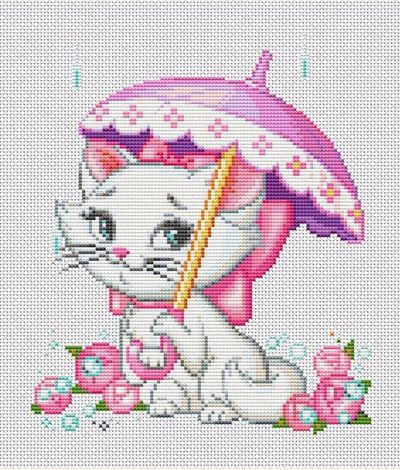 This pretty Aristocats print. | 21 Cross Stitch Patterns Every Disney Fan Will Want To Try