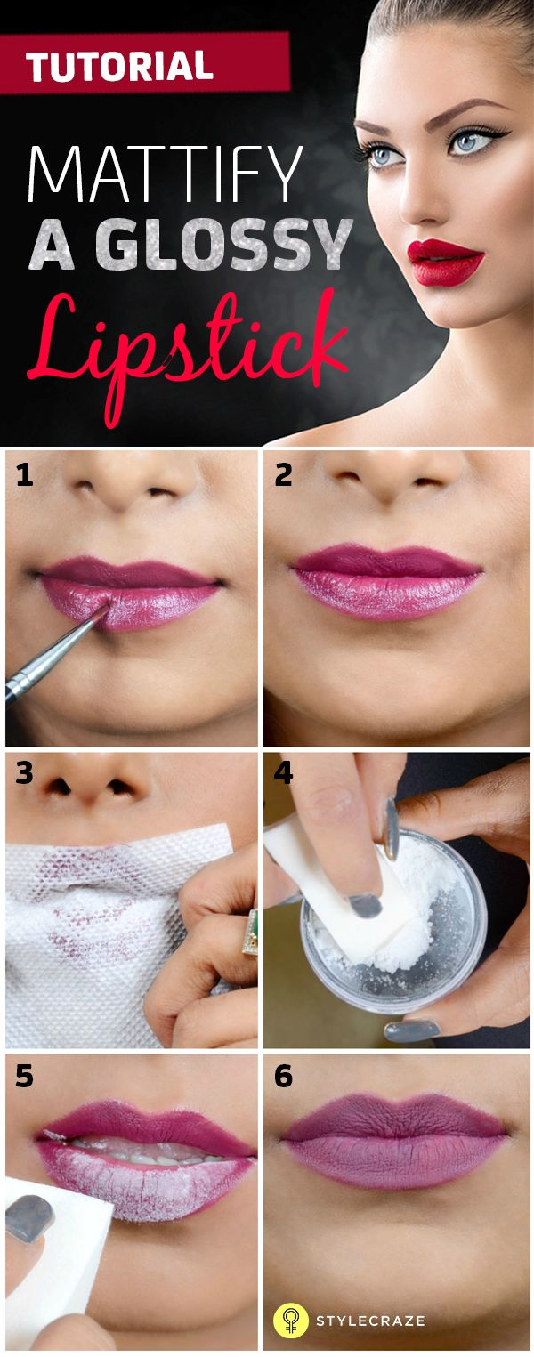 Glossy and plump – we love our lips like that! But, what if we want to get a matte finish? Here's how you can mattify a glossy lipstick.